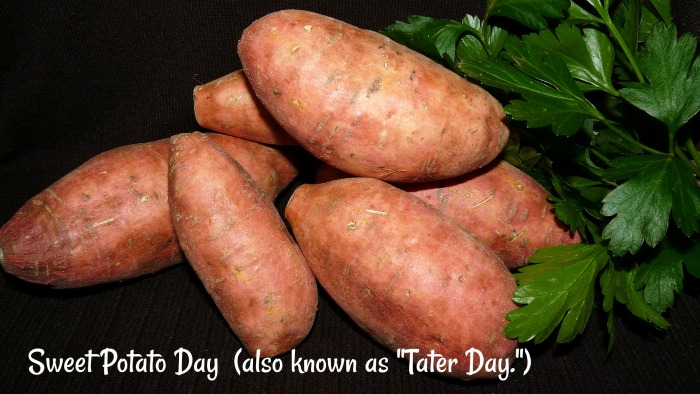 Sweet potato day is celebrated on the First Monday in April