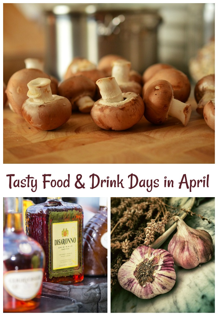 April is month just full of tasty food and drink national days.