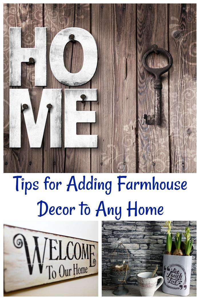 Tips for adding farmhouse decor to a home