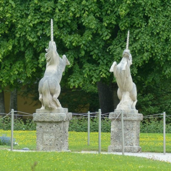 Unicorn statues