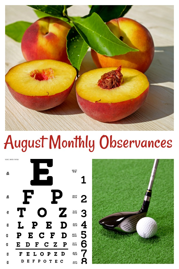 August National Monthly Observances
