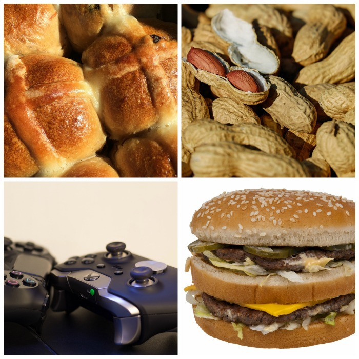 Hot cross buns, peanuts. video games and double cheeseburger days come in September