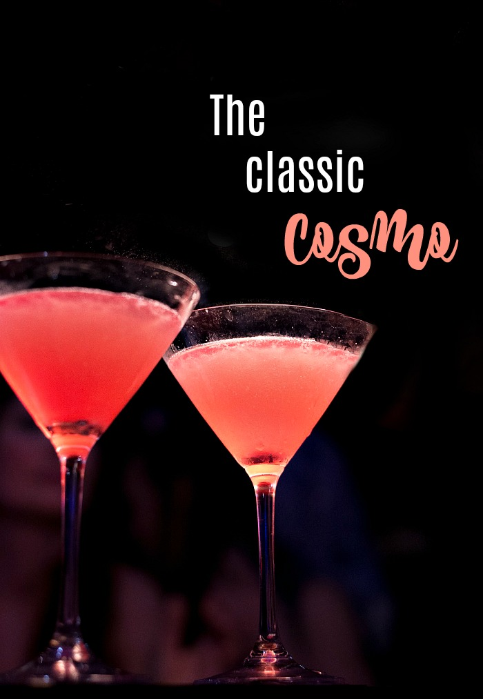 The classic cosmopolitan is one of America's favorite cocktails
