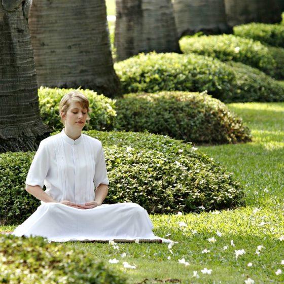 Meditation in a garden