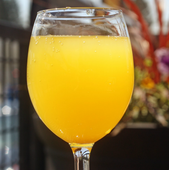 Mimosa in a glass
