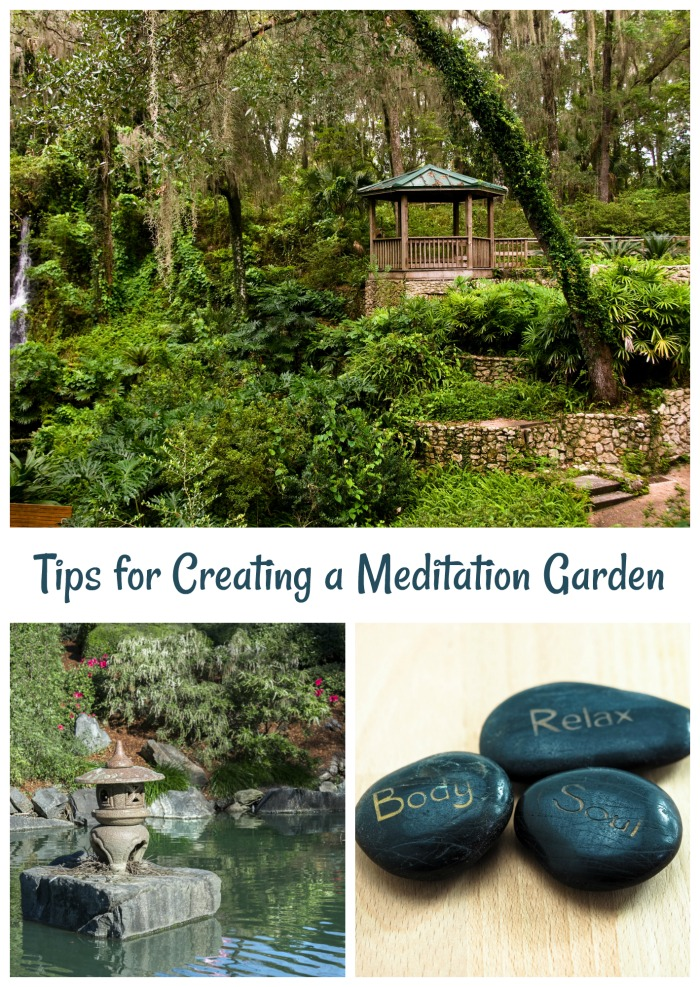 Meditating in a Garden is a great way to center yourself. Click through for some tips to add a mediation space to your garden area.