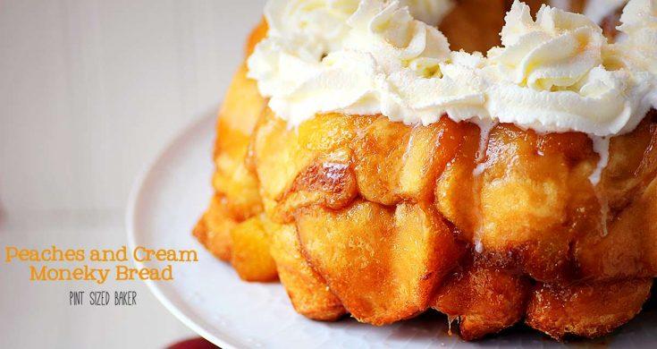 Peaches and Cream Monkey Bread Recipe
