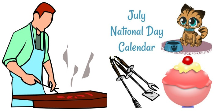 Calendar for July National Days