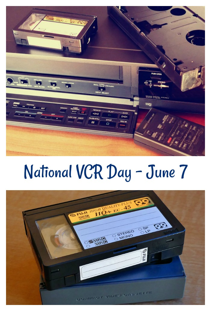 National VCR Day collage