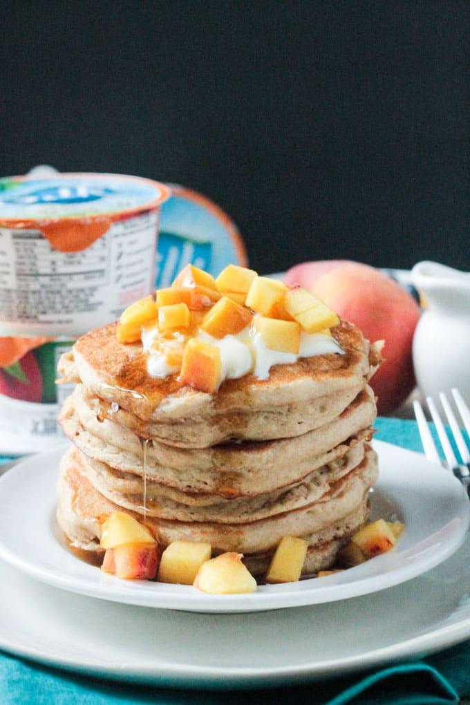 Peaches and Cream Dairy Free Pancakes