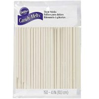 Wilton 1912-1001 4-Inch Lollipop Sticks, 150/ Pack