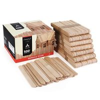 Magicfly 500pcs Jumbo Craft Sticks, Natural Wood Popsicle Craft Sticks for DIY Craft Projects, Home Decoration