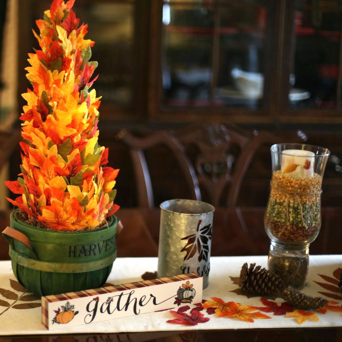 DIY Tree Centerpiece - Fall Table Decor - Thanksgiving Tablescape
