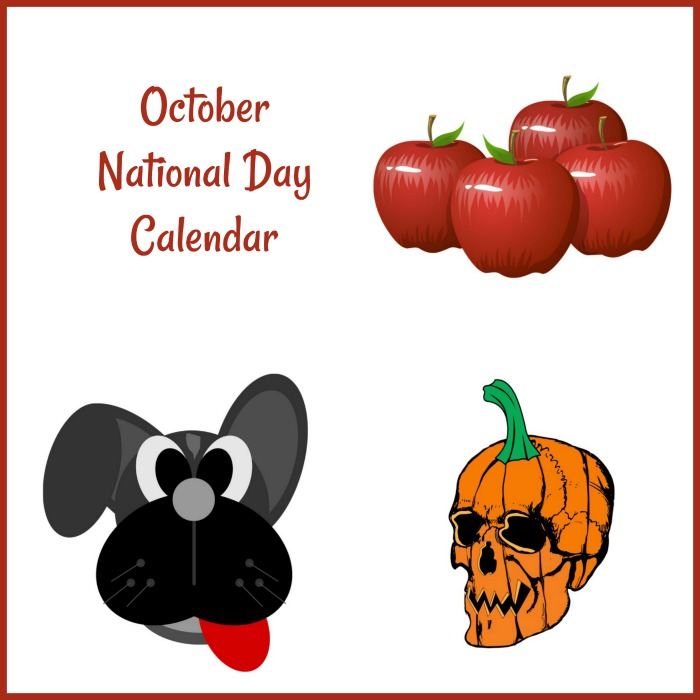 October National Day Free Printable Calendar