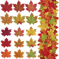 Supla 375 Pcs 2 Sizes 9 Colors Silk Artificial Autumn Maple Leaves