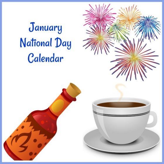 January National Day Printable Calendar