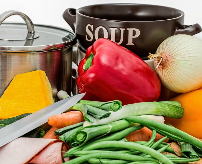 Making a pot of soup