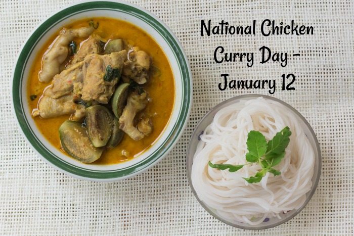 January 12 is National Curried Chicken Day