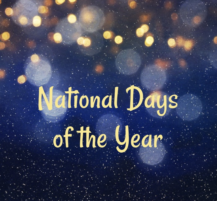 """Blurred bokeh background with text reading """"national Days of the Year"""