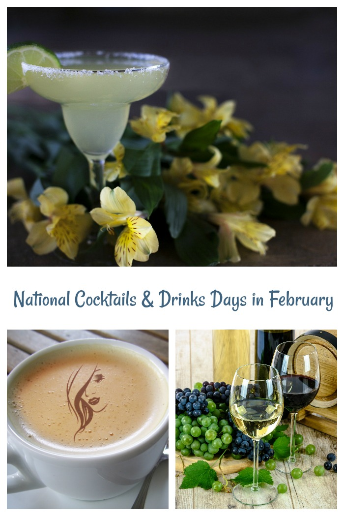 National Cocktails and Drink Holidays in February