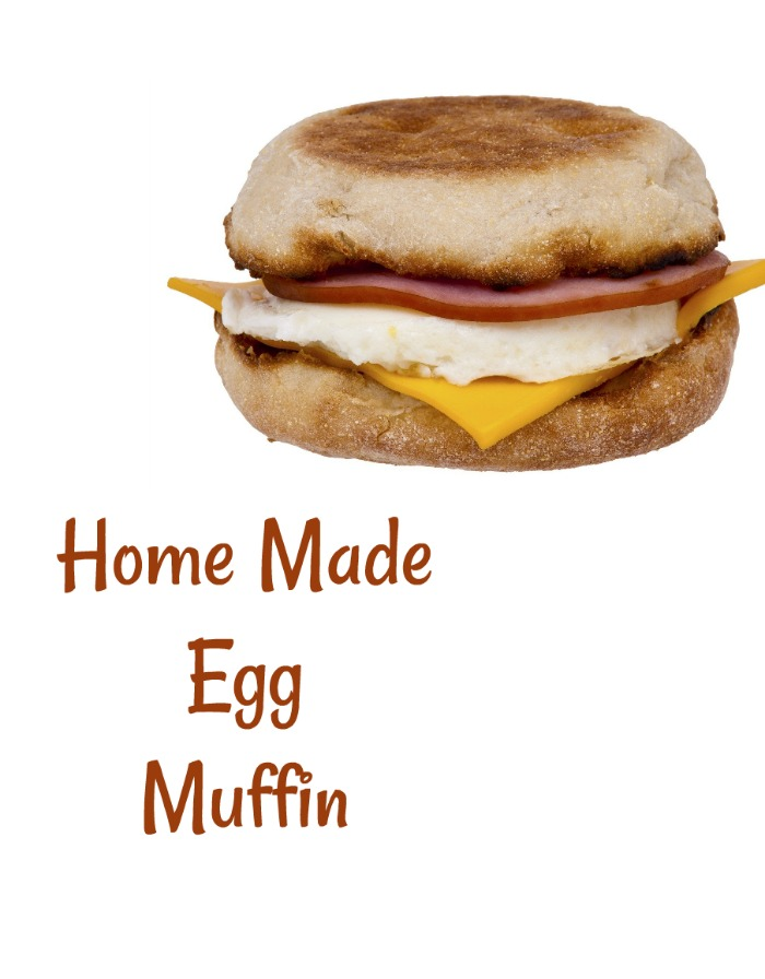 This home made egg muffin is ready in just minutes and saves a trip to the drive through. #eggmuffin #homemadeeggmuffin #breakfastrecipes #breakfastsandwich
