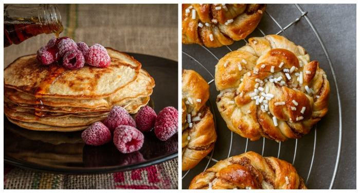 Pancakes and sticky buns - two breakfast national days