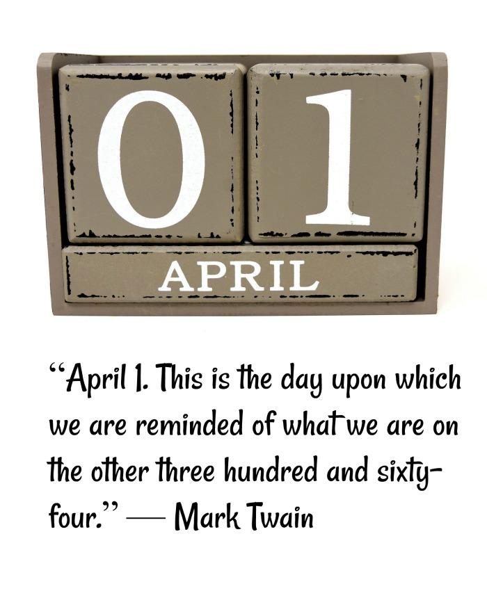 Mark Twain Joke for April Fool's Day