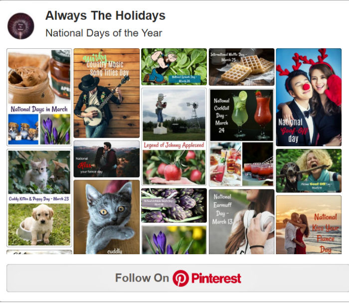 Follow Always the Holidays on Pinterest.