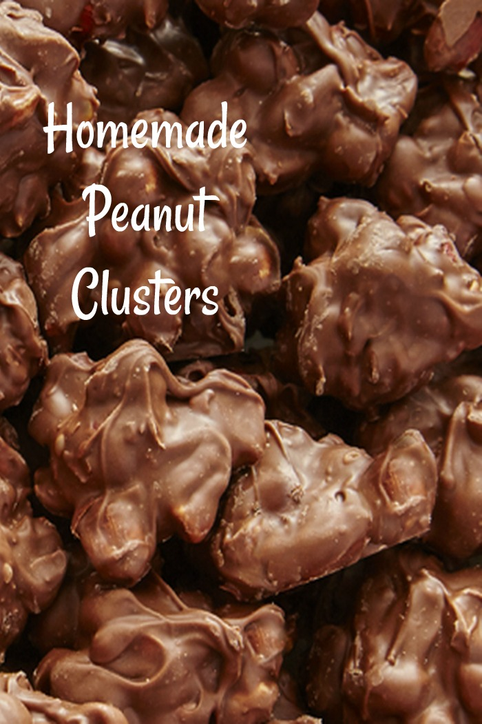 These delicious homemade peanut clusters are the perfect combination or salty and sweet. They are ready in just minutes. #candy #candyrecipes #peanutchocolate #peanuts #desserts #dessertrecipes