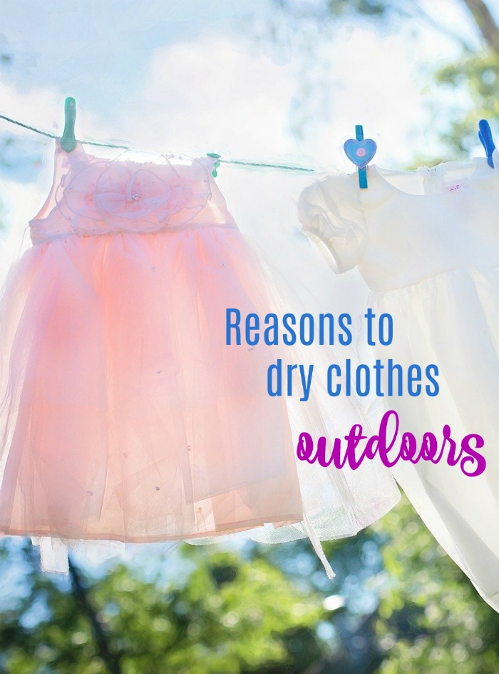 There are lots of reasons to dry clothes outdoors. Find out at Always The Holidays