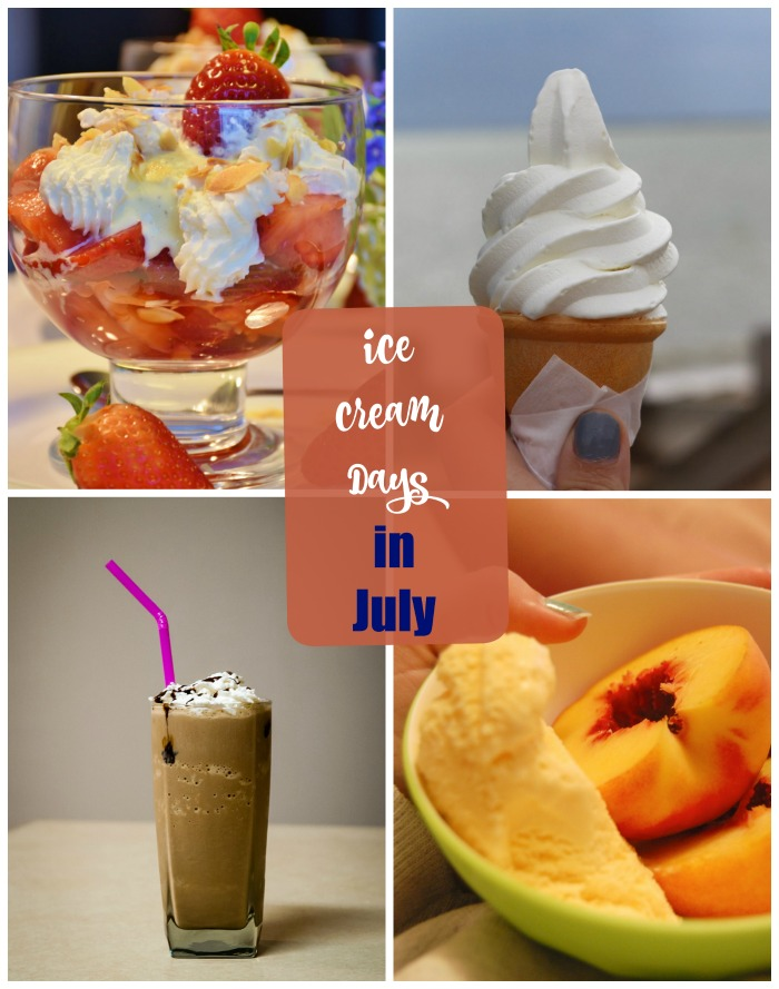 There are lots of ice cream days to be celebrated in July