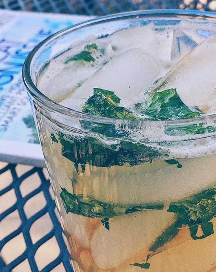 Mint julep drink