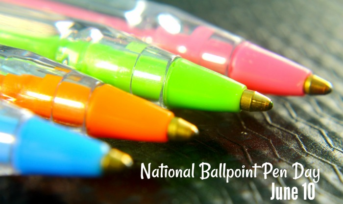 colorful ballpoint pens