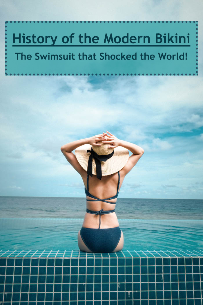 woman wearing the bikini - the swimsuit that shocked the world