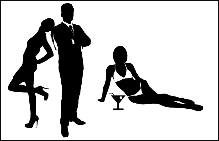 James Bond, women and a martini