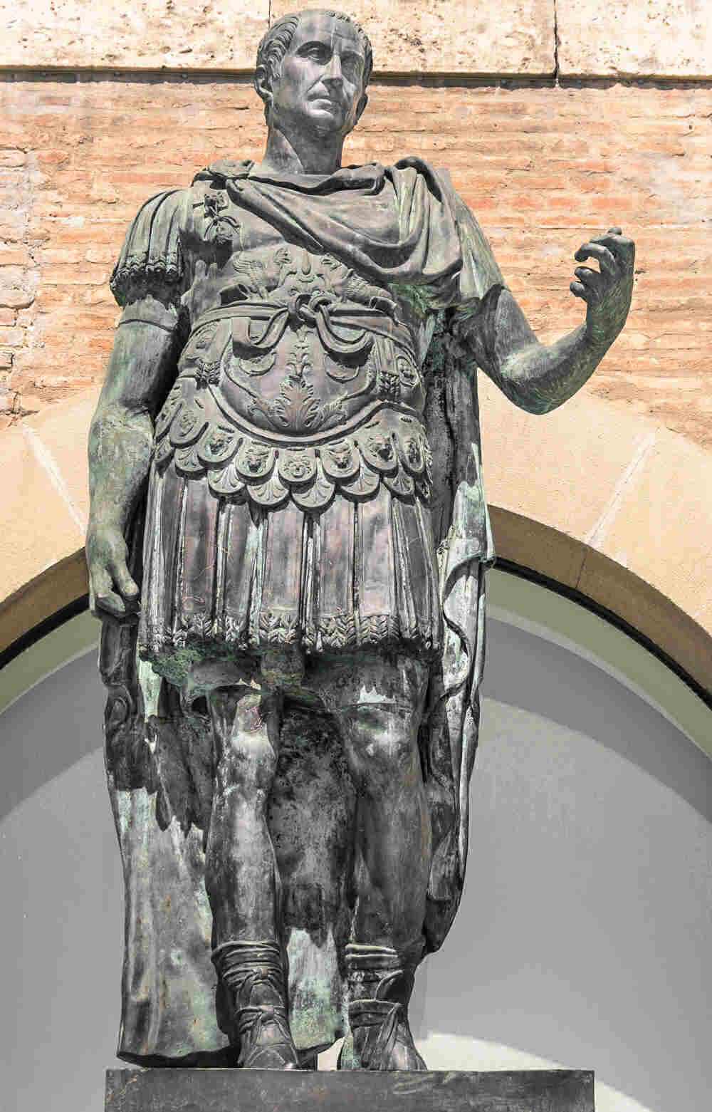 Statue of Julius Caesar. The month of July is named for him.