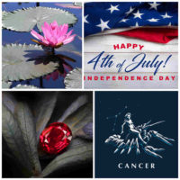 Waterlily, 4th of July, ruby and cancer are all part of July.