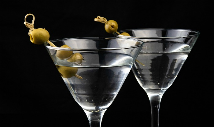 Marinis garnished with olives