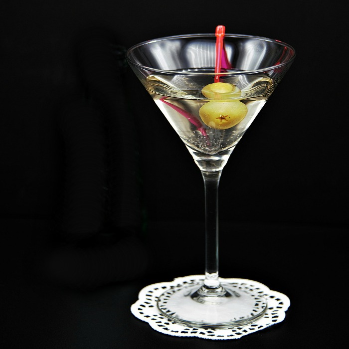 Gin martini with olives