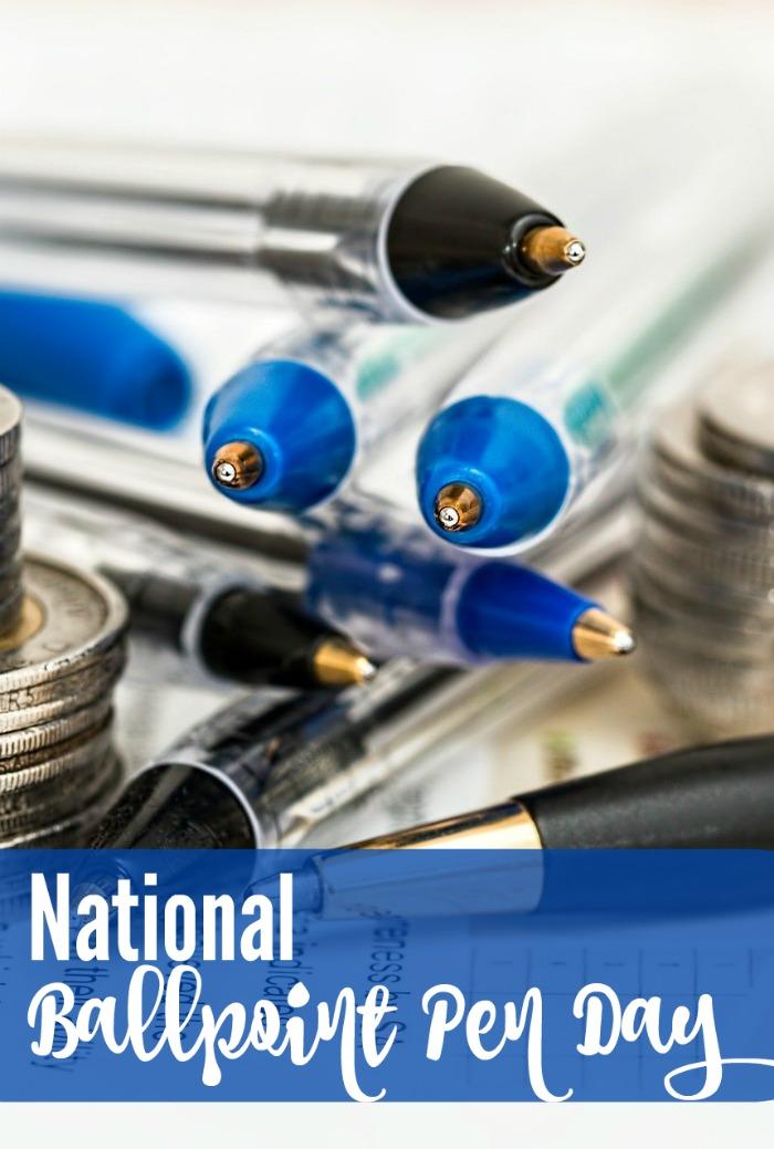 June 10 is National Ballpiont Pen Day