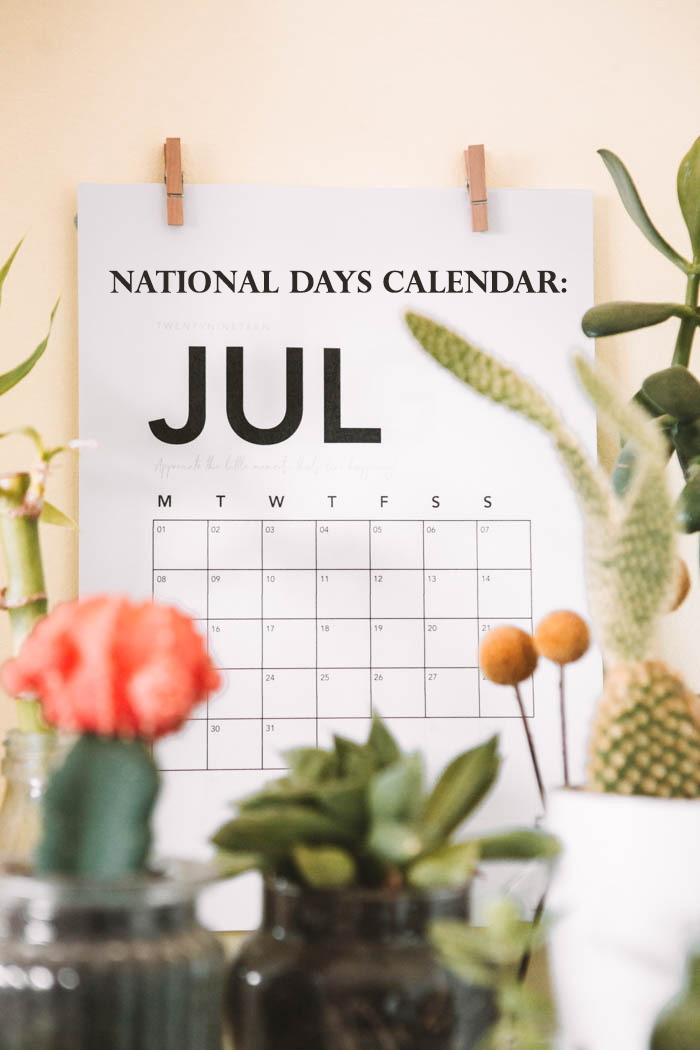 national days of july calendar