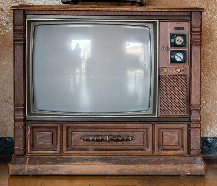old color television set