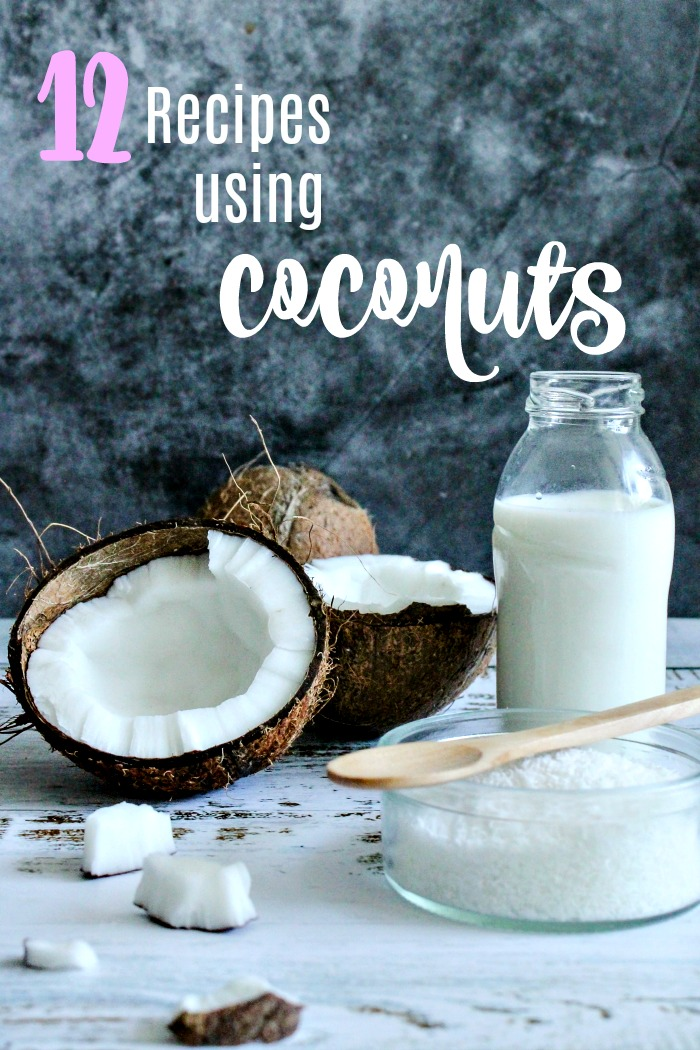 coconut milk and coconut meat
