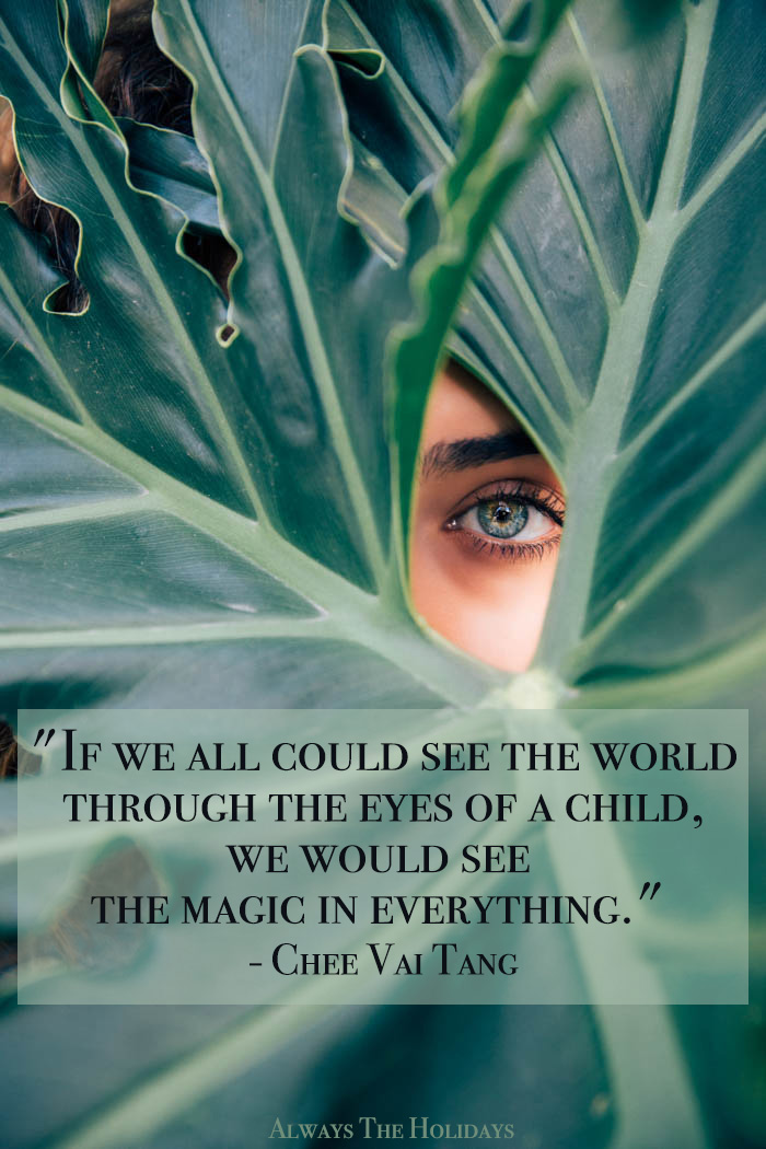 If we all could see the world through the eyes of a child, we would see the magic in everything quote