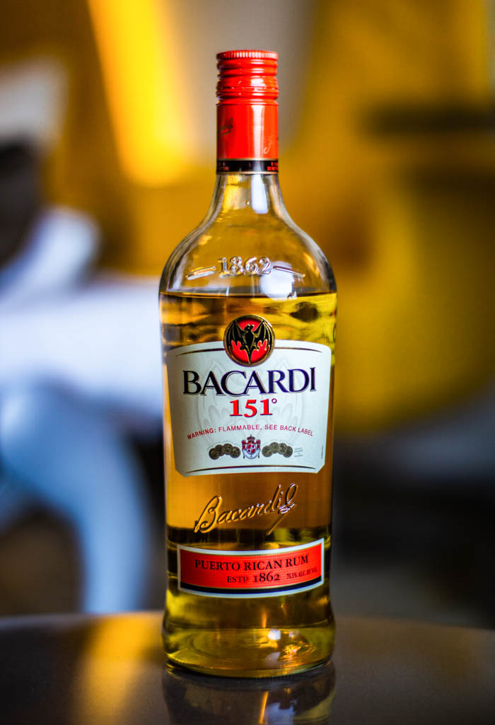 Bacardi 151 bottle of rum