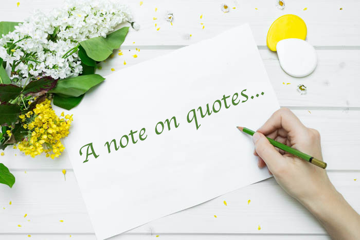 a note on quotes