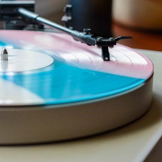 colored vinyl record
