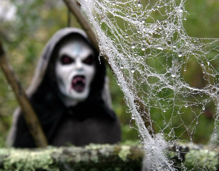 ghoul and spider webs