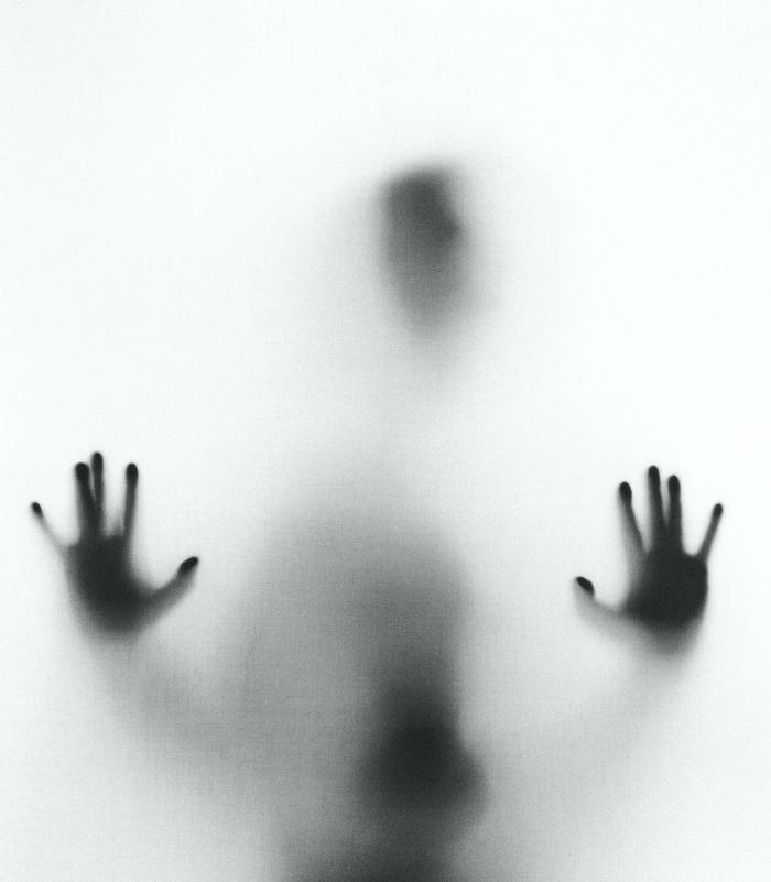 Spooky figure in fog