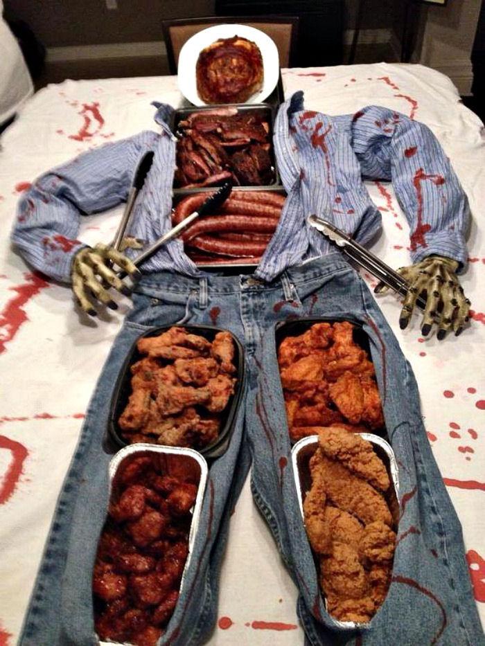 Halloween buffet display